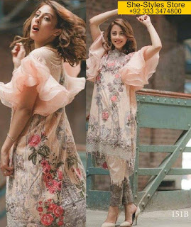 Rangrasiya Carnation Luxury Eid Lawn 2017