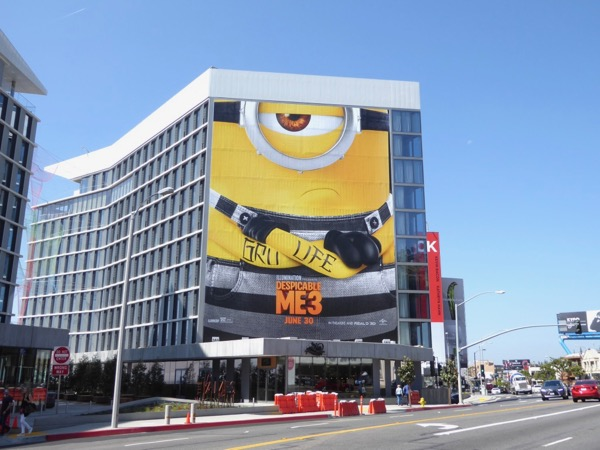 Giant Gru Life Despicable Me 3 billboard