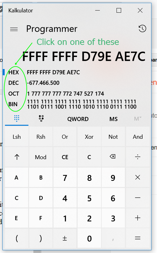 TUT] Converting Hex to Decimal in