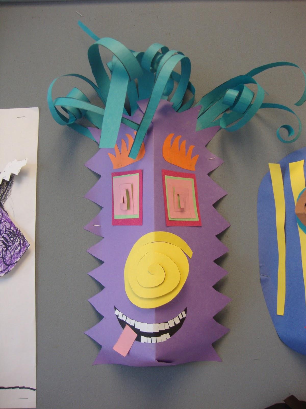 Art Paper Scissors Glue Paper Masks