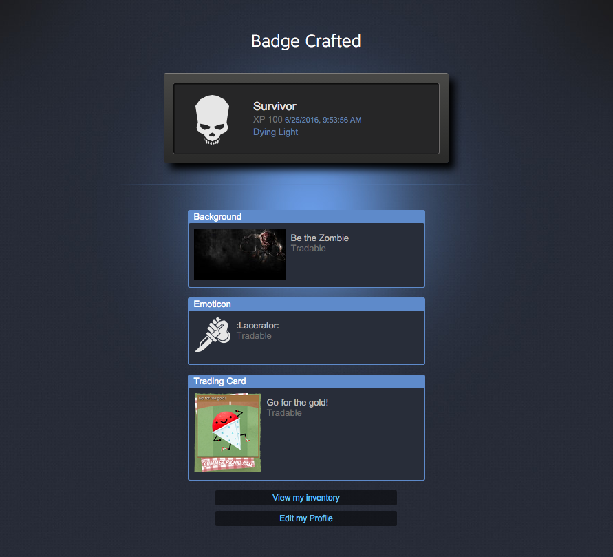 how to make badges steam