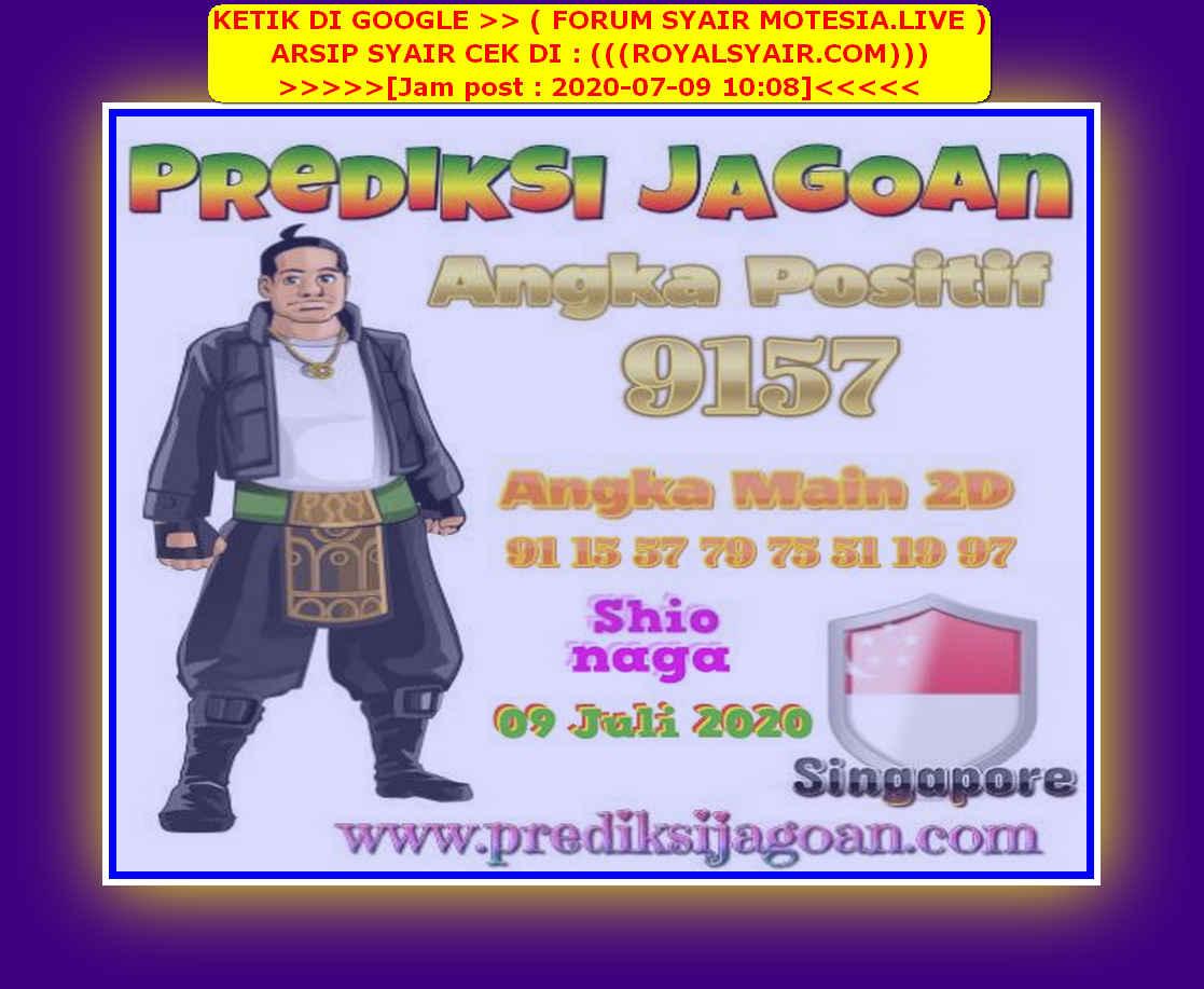 Kode syair Singapore Kamis 9 Juli 2020 158
