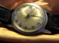 Timex acrylic watch crystal polished to remove scratches