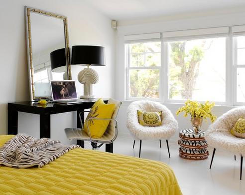 decoração de quarto amarelo