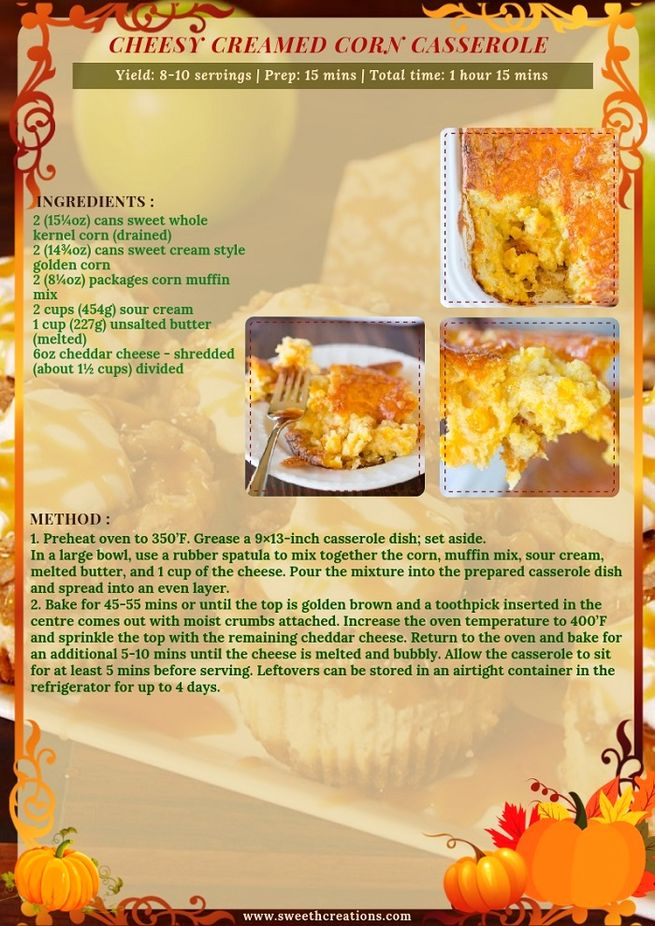 CHEESY CREAMED CORN CASSEROLE RECIPE