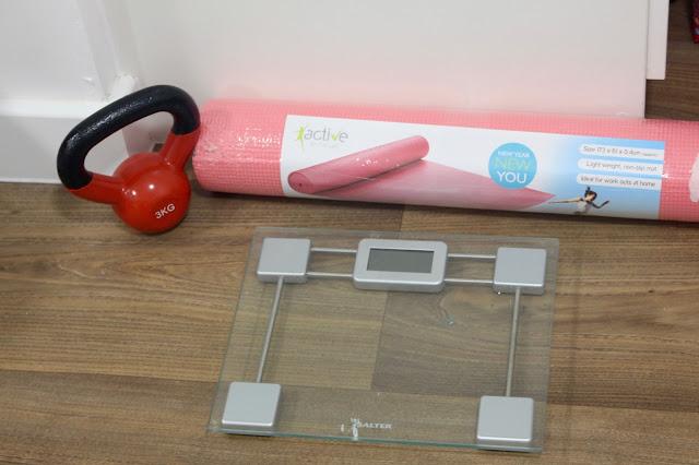 home gym workout kettlebell yoga