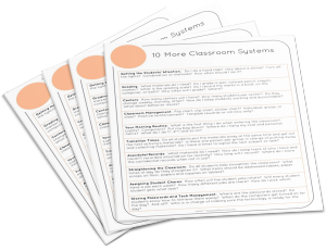 Want a list of 10 more must-have classroom systems?