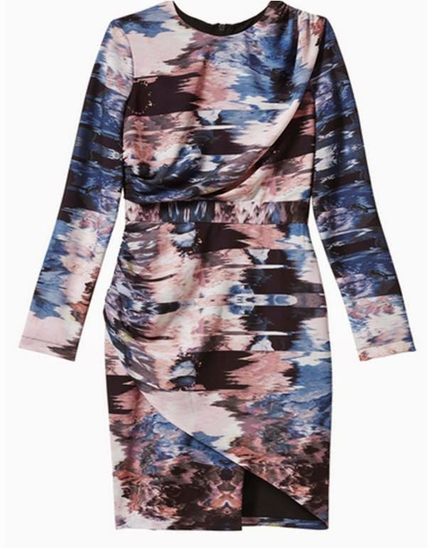 We Are Kindred's Olivia Printed Drape Dress in Abstract
