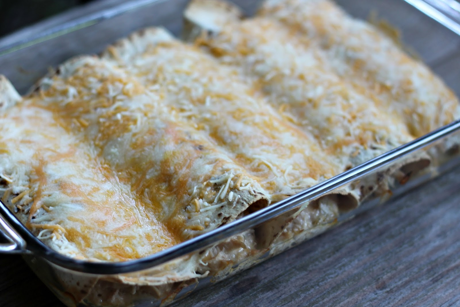 white chicken enchiladas baked