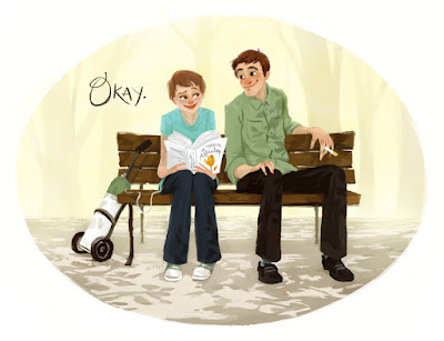 Hazel Grace Lancaster & Augustus Waters (The Fault in Our Stars) by John Green