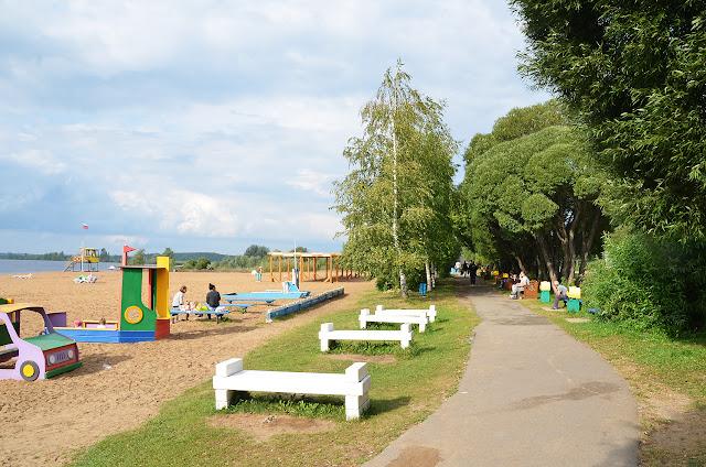 Усть-Качка - пляж