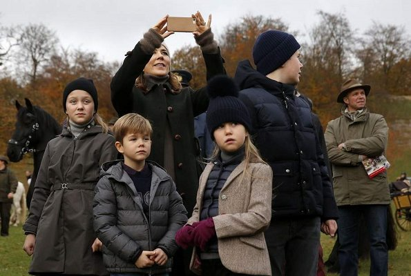 Crown Princess Mary, Prince Christian, Princess Isabella, Prince Vincent and Princess Josephine at Hubertus Hunt