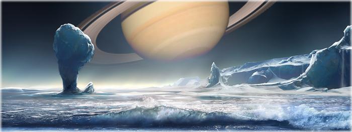 Oceano em Encélado, lua de Saturno