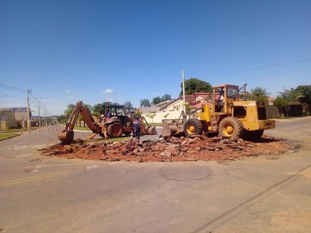 Senador Canedo: Construção de rotatória entre Avenida Dom Emanoel e Presidente Vargas