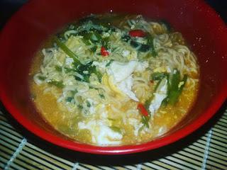 Resepi Maggie Tomyam Kangkung, resepi, masakan melayu,