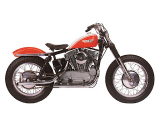 harley davidson xlr 1961 red side right