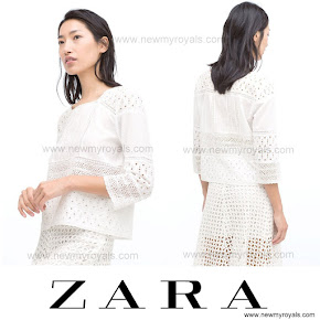Crown Princess Style ZARA Lace Blouse and ZARA Long Skirt