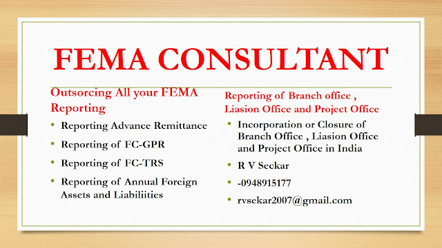 R V Seckar FEMA Consultant  09849015177 rvsekar2007@gmail.com ECB, Incorporation of project ,liasion and project office
