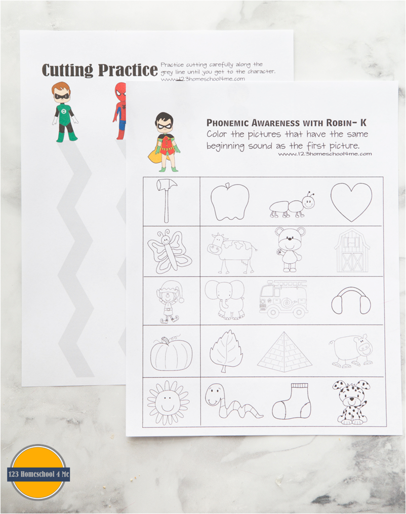 free superhero worksheets for kids