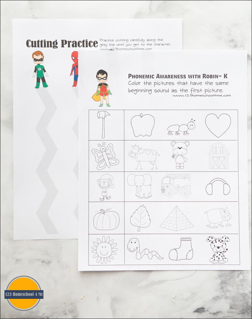 FREE Superhero Worksheets for Kids – Phonemic Awareness Worksheets Kindergarten