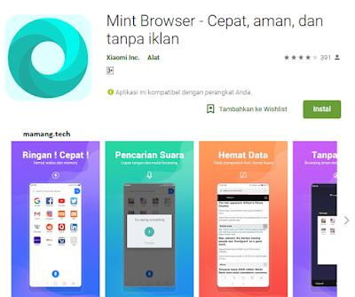 Xiaomi Resmi Mengeluarka Aplikasi Mint Browser