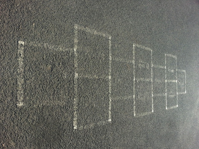 Hopscotch markings on playground