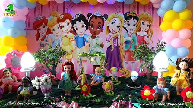 Mesa temática de aniversário Princesas Baby Disney - Festa infantil
