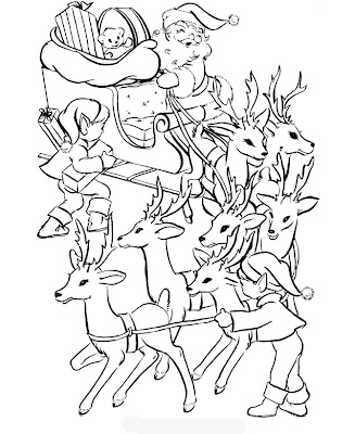 Christmas Eve Coloring Pages Realistic