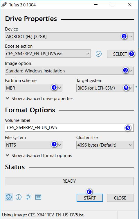 Rufus 3.0 đã có nhiều cải tiến về giao diện.