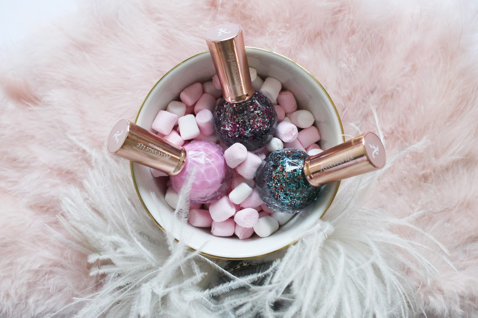 nail polish, nails, nailspiration, shimmer, silver, glitter, ethereal, magical , unicorn nails, marble, accessorize beauty, accessorize, marshmallows, feathers, girly, pretty, dreamy
