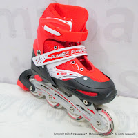 Sepatu Roda Super Power Inline Skate Red