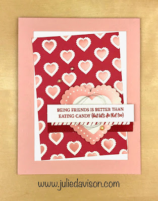 Stampin' Up! Heartfelt Valentine Day's Card CASE ~ January-June 2020 Mini Catalog ~ www.juliedavison.com