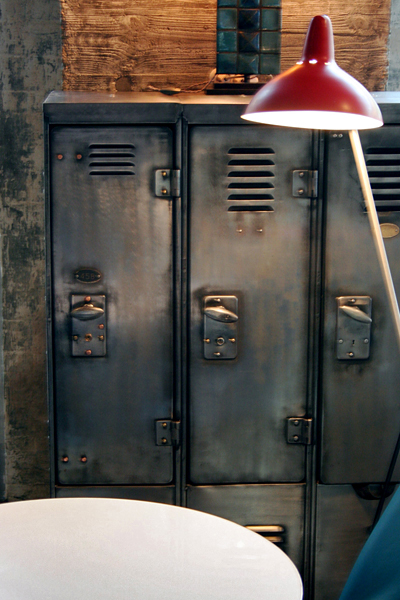 dishfunctional designs salvaged repurposed vintage lockers