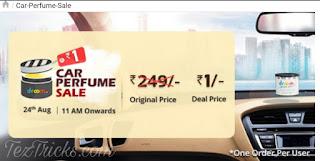 Droom Car Perfume Sale, Droom Car Perfume at Rs.1, Car perfume Offer, Droom Sale