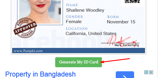 generate my id card