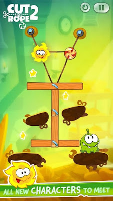 Download Cut the Rope 2 Apk v1.6.8 Mod (Free Shopping) Versi Terbaru
