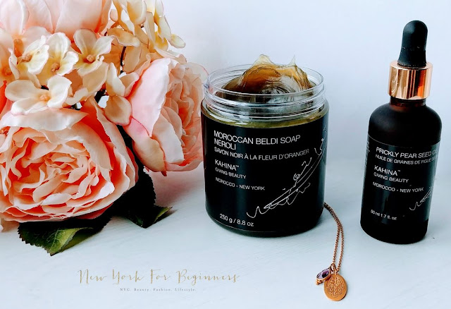 Review Kahina Giving Beauty Moroccan Beldi Soap and Prickly Pear Seed Oil at New York For Beginners