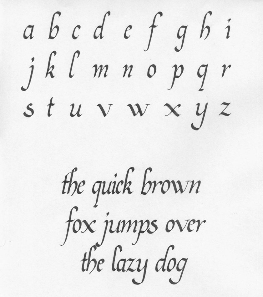 Rounded Letters That Led To Capitals
