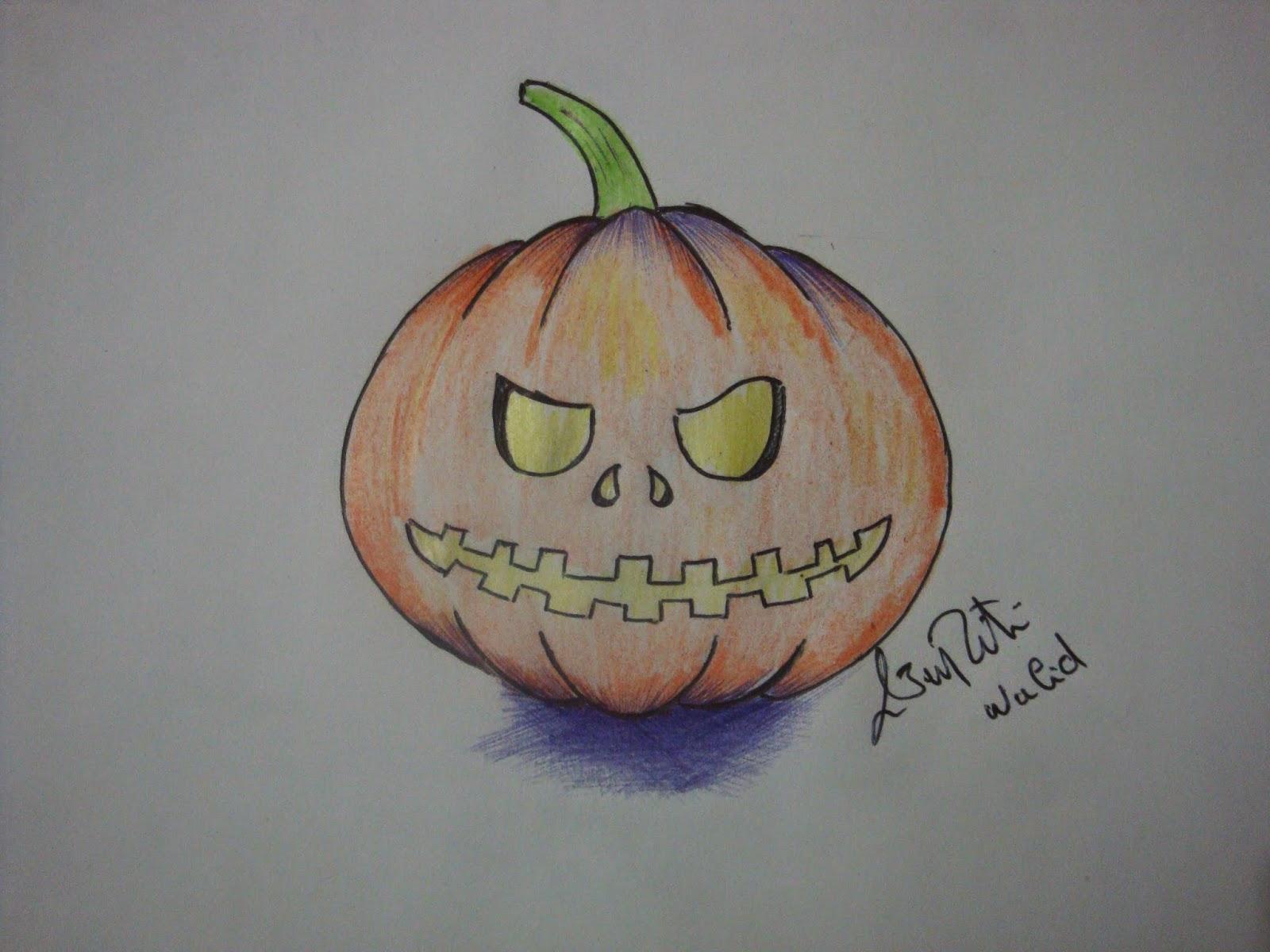 Comment dessiner une citrouille d 39 halloween dessin - Dessin d halloween facile ...