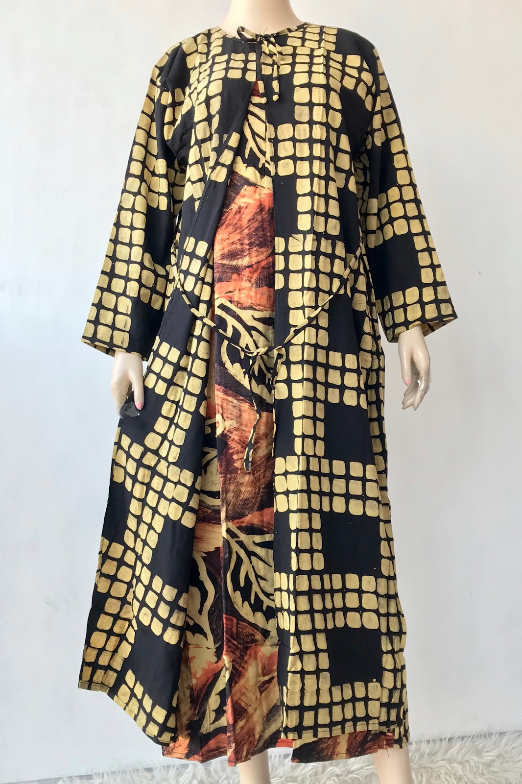 Batik Mayon Daster Lengan Panjang Longdress Baju Bolero Kode Ldc 077 Sms Wa 0817277706