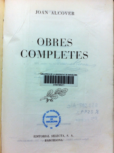 Joan Alcover, obres completes