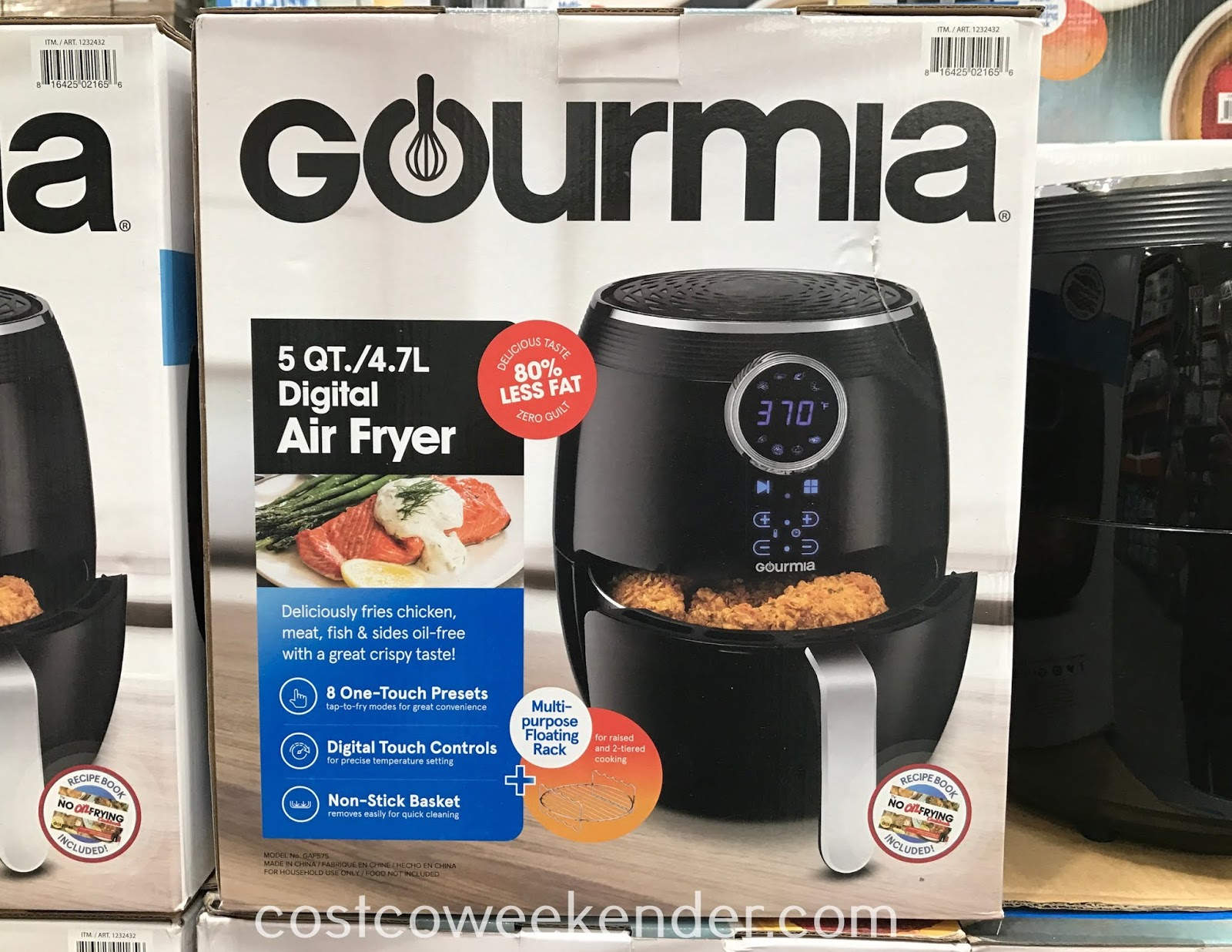Enjoy crispy foods with the Gourmia 5qt Digital Air Fryer