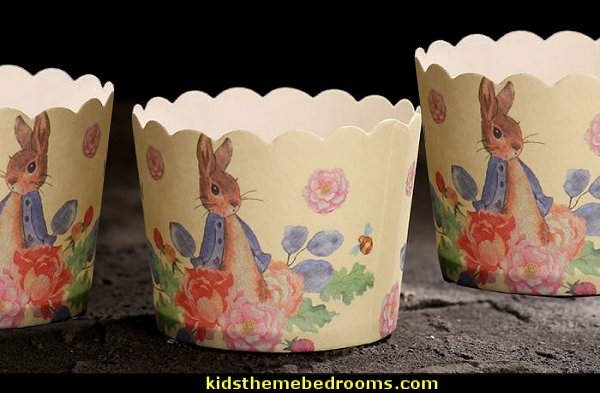 peter rabbit decoration small cupcake cup muffin cups  Peter Rabbit party supplies - Peter Rabbit Party Ideas - Peter Rabbit Party Theme  decorations - Peter Rabbit birthday party decorations - Peter Rabbit spring garden party decorating - garden party - Carrots Chocolate Candy molds  -  Carrot cake cookie molds - flower decorations - bunny party sweets - bunny party supplies