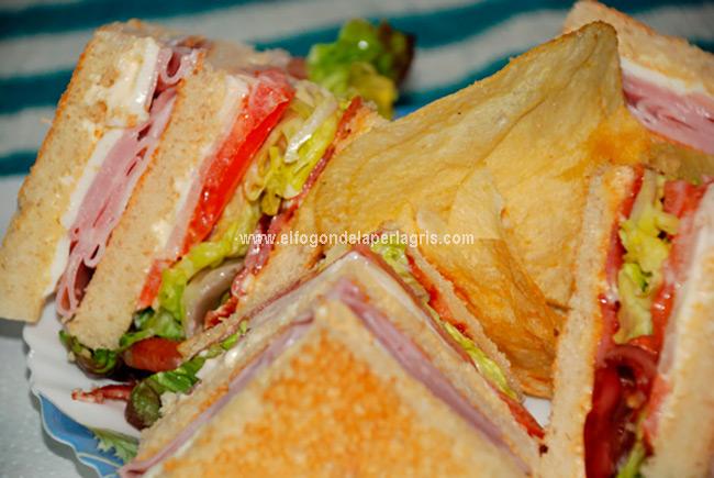 Presentación California club sándwich