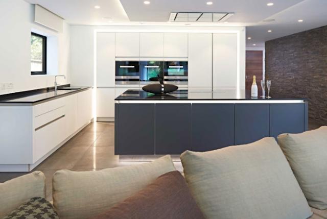 Luxurious wide kitchen