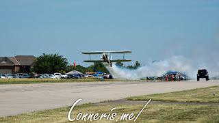 N3256A 1943 BOEING A75N1%2528PT17%2529 Smoke Flyby 1