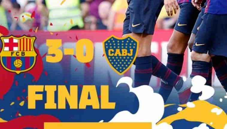 Hasil Barcelona vs Boca Juniors Skor Akhir 3-0 [Trofeo Joan Gamper 2018]