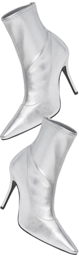Giussepe Zanotti Metallic Stretch-Leather Booties