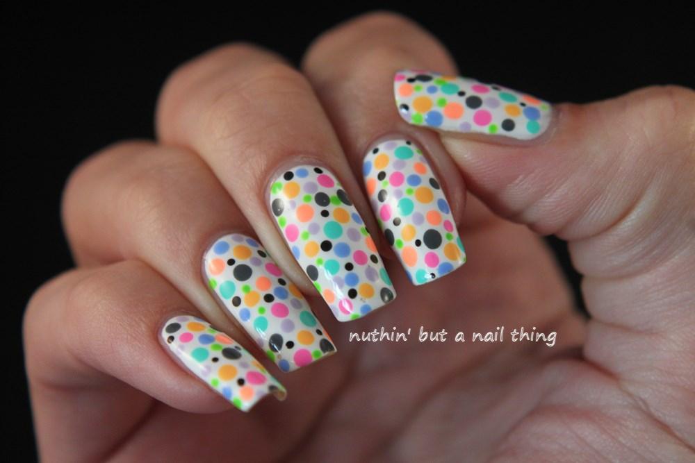 nuthin' but a nail thing: Polka dot nail art
