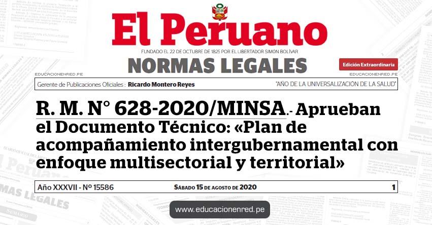 R. M. N° 628-2020/MINSA.- Aprueban el Documento Técnico: «Plan de acompañamiento intergubernamental con enfoque multisectorial y territorial»